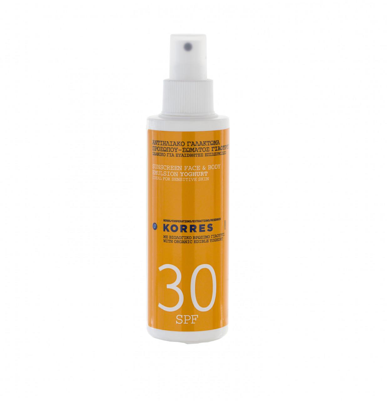Sunscreen Face & Body Emulsion Yoghurt SPF 30